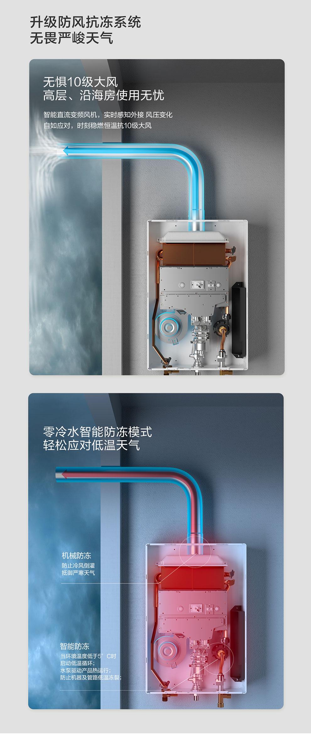 樱花燃气热水器 - 零冷水